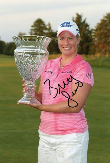 Brittany Lincicome, LPGA Tour, signed 12x8 inch photo.